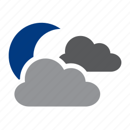clouds, meteorology, moon, weather icon
