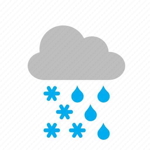 cloud, meteorology, rain, raining, snow, snowing, weather icon
