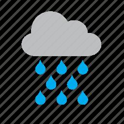 cloud, meteorology, rain, raining, weather icon