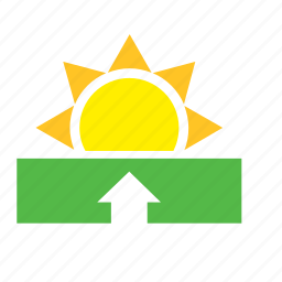 meteorology, sun, sunrise, weather icon