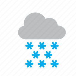 cloud, meteorology, snow, snowing, weather icon