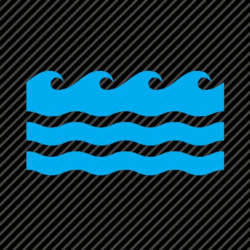 ocean, rough, sea, seas, wave, waves, weather icon