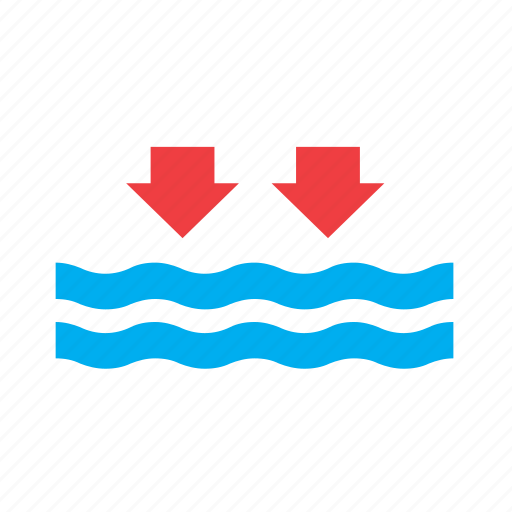 low, meteorology, ocean, sea, tide, water, weather icon