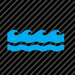 meteorology, rough, sea, seas, wave, waves, weather icon