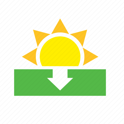 meteorology, sun, sunset, weather icon