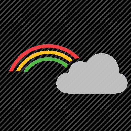 cloud, meteorology, rainbow, weather icon
