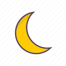 crescent moon, weather icon