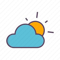 cloud, clouds, sun, weather icon