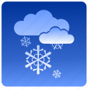 clouds, condition, sky, snow, weather icon