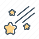 night, shooting star, star, stars icon