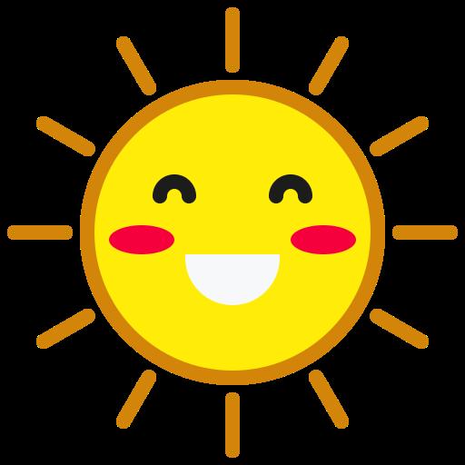 Emoticon, happy, smile, smiley, sun, weather icon - Free download