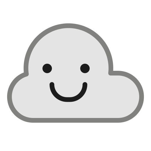 Cloud Cloudy Emoticon Smile Smiley Weather Icon