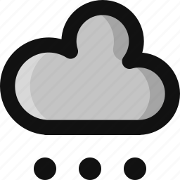 climate, cloud, cloudy, cold, snow, snowfall, weather icon