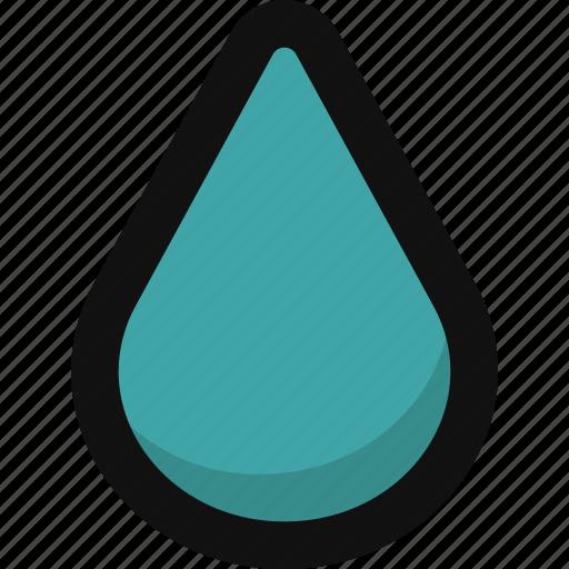 downpour, drop, rain, rainy, shower, water, weather icon