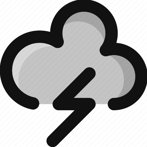 cloud, drop, lightning, rain, storm, thunder, weather icon