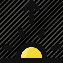 dawn, daybreak, forecast, sun, sunny, sunrise, weather icon