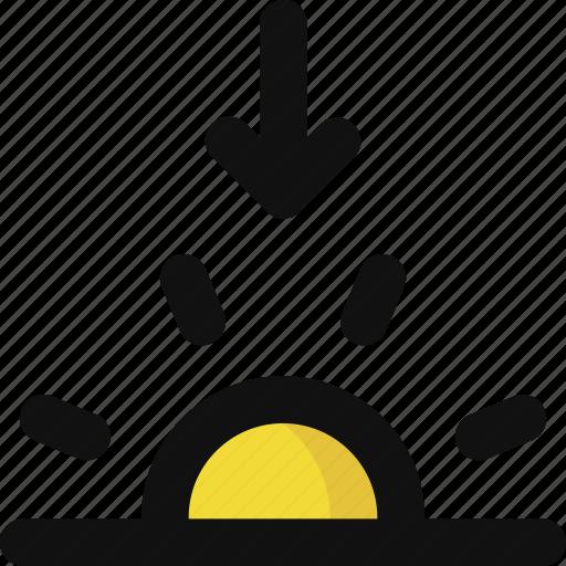 descent, forecast, night, setting, sun, sunset, weather icon