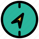 compass, direction, position icon