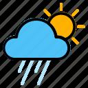 morning, rain, weather icon