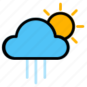 morning, rainy, weather icon