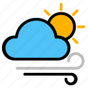 air, morning, weather, windy icon