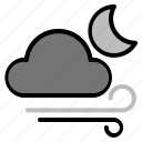 air, night, weather, windy icon