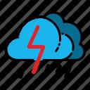 cloud, heavy, rain, storm, thunder, thunderbolt, weather icon