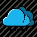 cloud, heavy, snow, weather icon