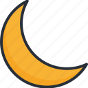 climate, crescent, forecast, moon, night, season, weather icon