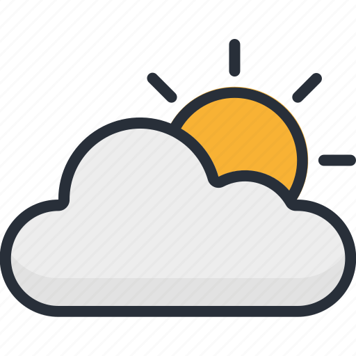 Cloud, cloudy, forecast, summer, sun, sunny, weather icon - Download on Iconfinder