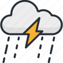 cloud, cloudy, forecast, lightning, rain, storm, thunder icon