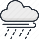 cloud, cloudy, rain, season, storm, weather, wind icon