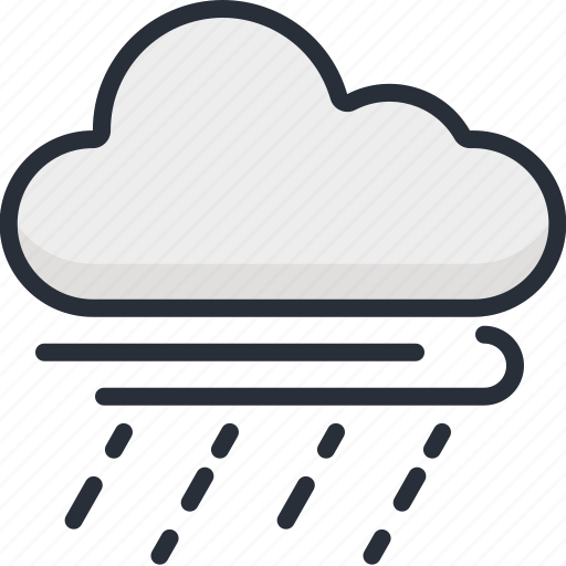 cloud, cloudy, rain, season, storm, weather, wind icon