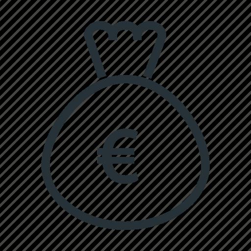 bag, euro, money icon