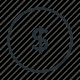 cent, dollar, money, usd icon