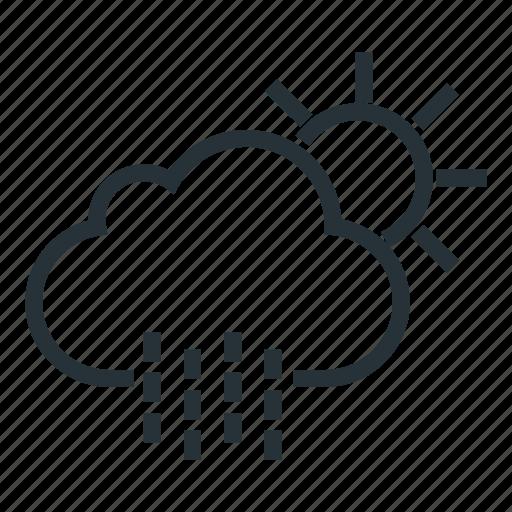 autumn, cloud, rain, rainy, spring, sun, sunny icon