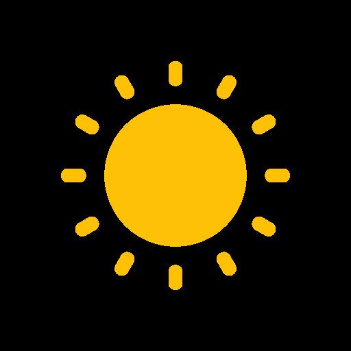 hot, sun, weather icon
