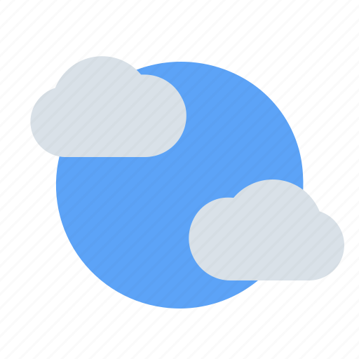 cloud, clouds, day, summer, sun, sunny, weather icon
