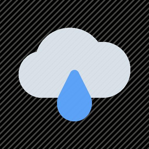 cloud, drop, rain, rainy, water, weather, wet icon