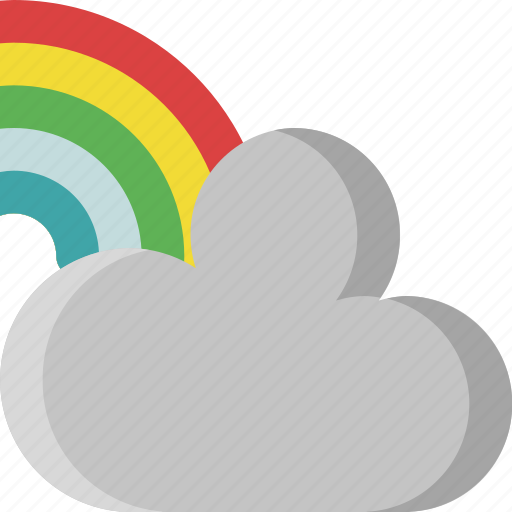 climate, color, colors, colours, rainbow, sky, weather icon