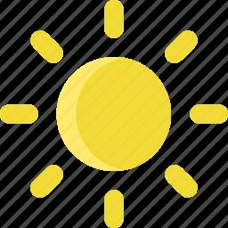 climate, forecast, hot, sun, sunny, temperature, weather icon