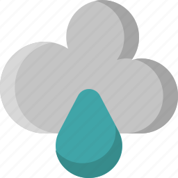 cloud, downpour, drop, rain, rainy, shower, weather icon