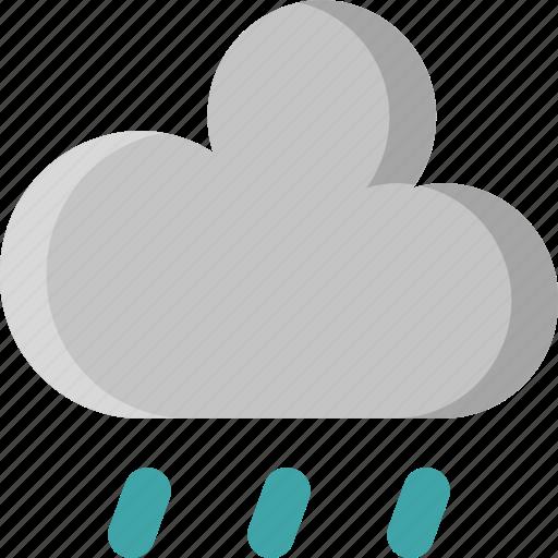 cloud, downpour, drop, rain, rainy, shower, weather icon
