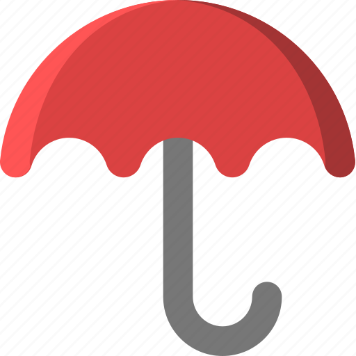 downpour, drop, rain, rainy, shower, umbrella, weather icon