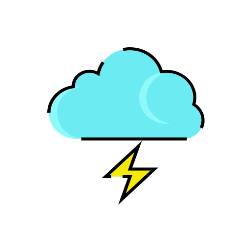 Cloud, lightning, meteorology, rain, sign, storm, weather icon - Free download