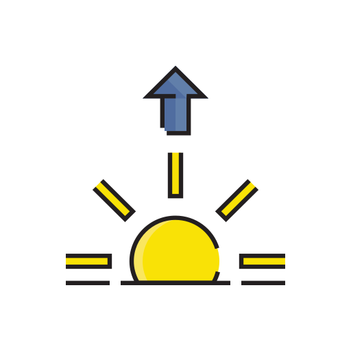 meteorology, morning, sign, sun, sunrise, weather icon