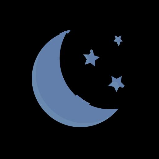 meteorology, moon, night, sign, stars, weather icon