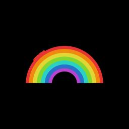 meteorology, rain, rainbow, sign, sunny, weather icon