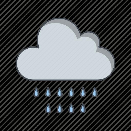 cloud, rain, rainy icon