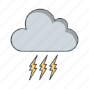 bad weather, lightning, storm icon